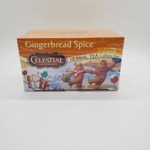 Celestial Herbal Tea Caffeine Free Gingerbread Spice Holiday Tea