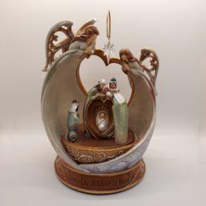 """Nativity """"Unto Us A Child Is Born"""" Music Box"""