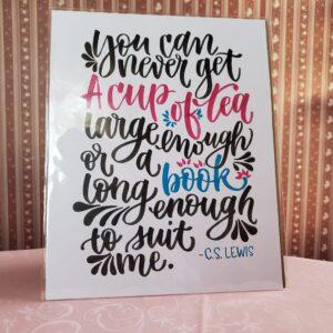 Lindsey Alder, Local Artist Print – CS Lewis