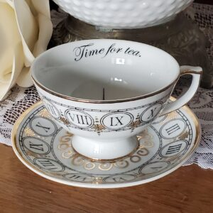 """Time for Tea"" Tea Cup and Saucer"